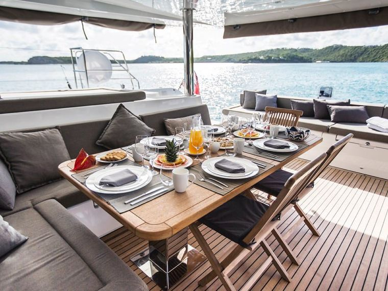 SAIL AWAY Yacht Charter - Breakfast in the cockpit