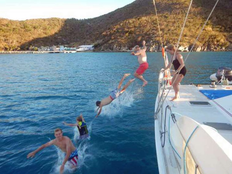 VISION Yacht Charter - Jumping for Joy!