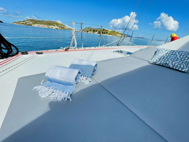 VISION Yacht Charter - Foredeck and Trampolines