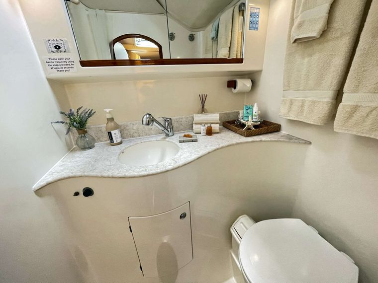 VISION Yacht Charter - Guest Bathroom