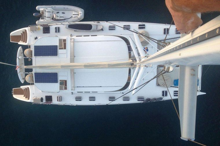 MISS ELIZABETH Yacht Charter - From the top of the mast!