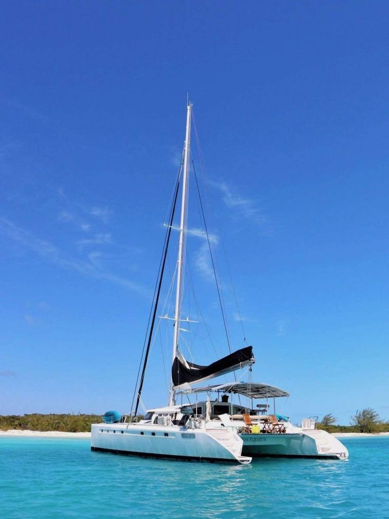 MISS ELIZABETH Yacht Charter - stern view at anchor