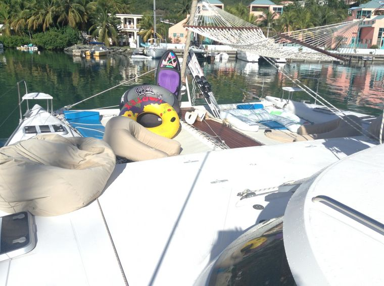 MISS ELIZABETH Yacht Charter - Victoria's water toys on display