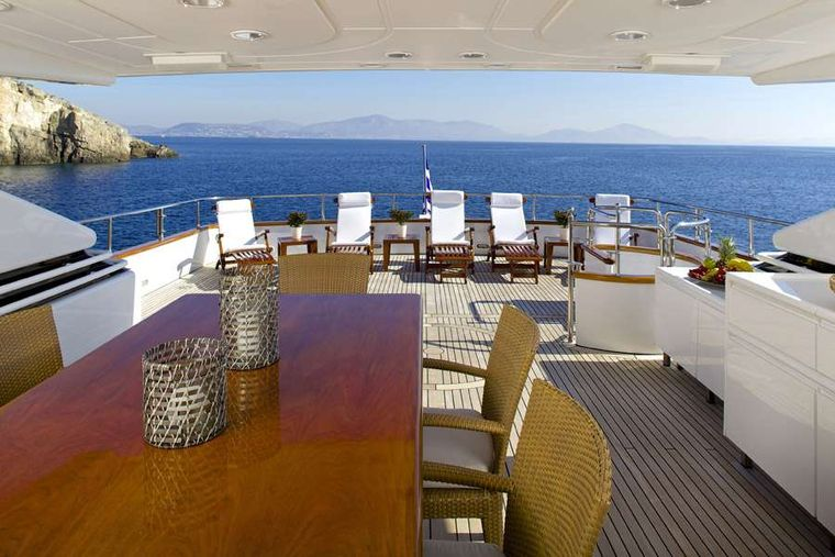 LET IT BE Yacht Charter - Upper deck