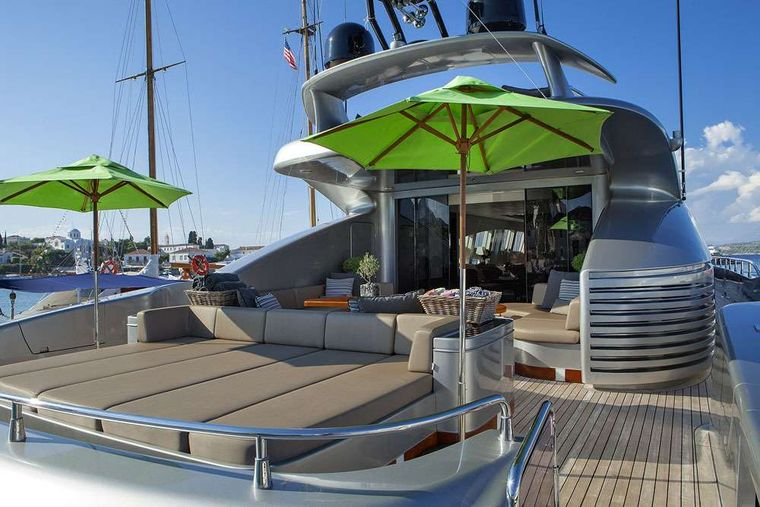MY TOY Yacht Charter - stern lounge