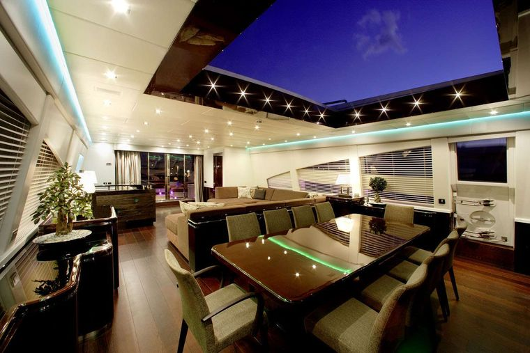 MY TOY Yacht Charter - Dining area