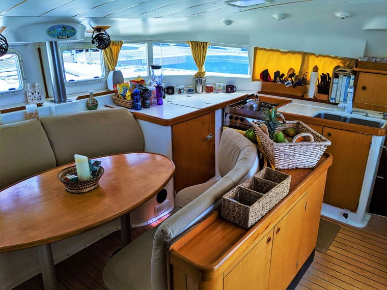 GUIDING LIGHT Yacht Charter - Salon and Galley