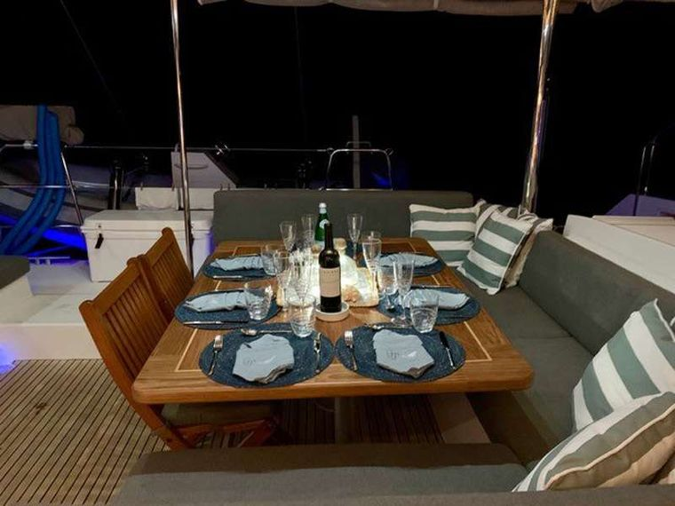 GYPSY PRINCESS Yacht Charter - Cockpit with lounge and dining area