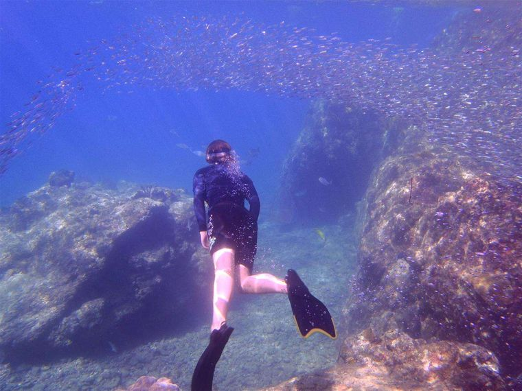 EXTASEA 2 Yacht Charter - Snorkeling the Caves