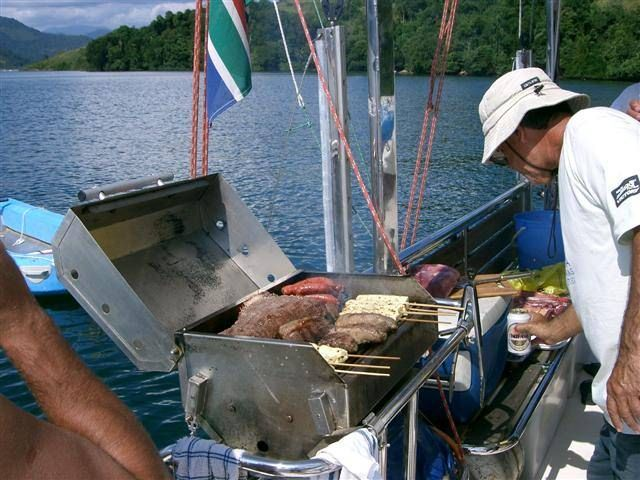 EXTASEA 2 Yacht Charter - BBQing on the stern