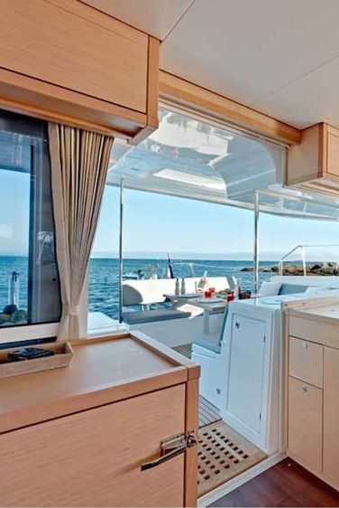 AMELIA Yacht Charter - The main saloon is spacious and offers panoramic view.