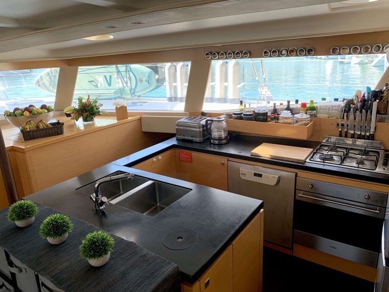ODYSSEA Yacht Charter - Galley and Coffee Station