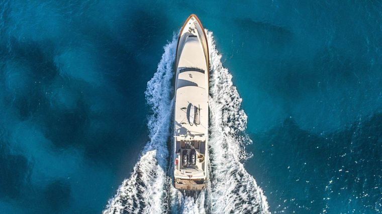 LEGACY Yacht Charter - Aerial Running