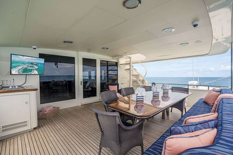 LEGACY Yacht Charter - Aft Deck