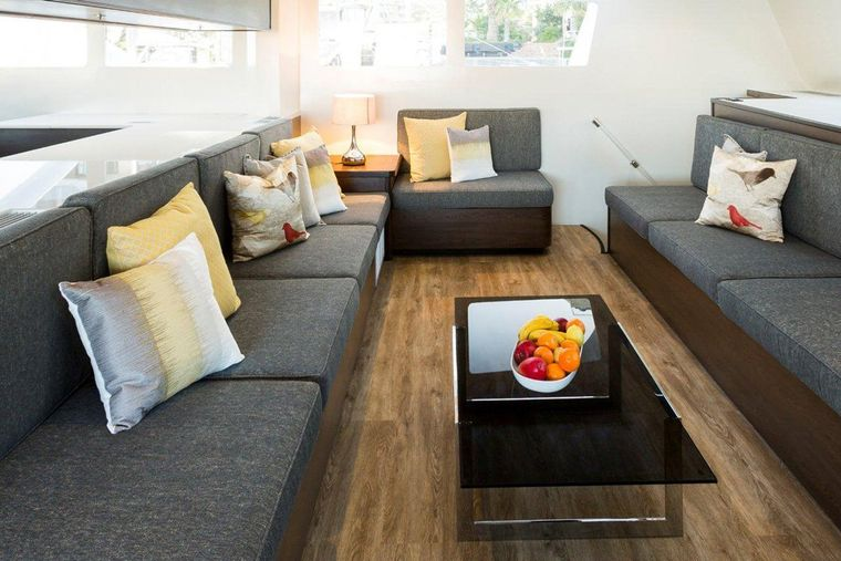 TRANQUILITY Yacht Charter - Saloon lounging area