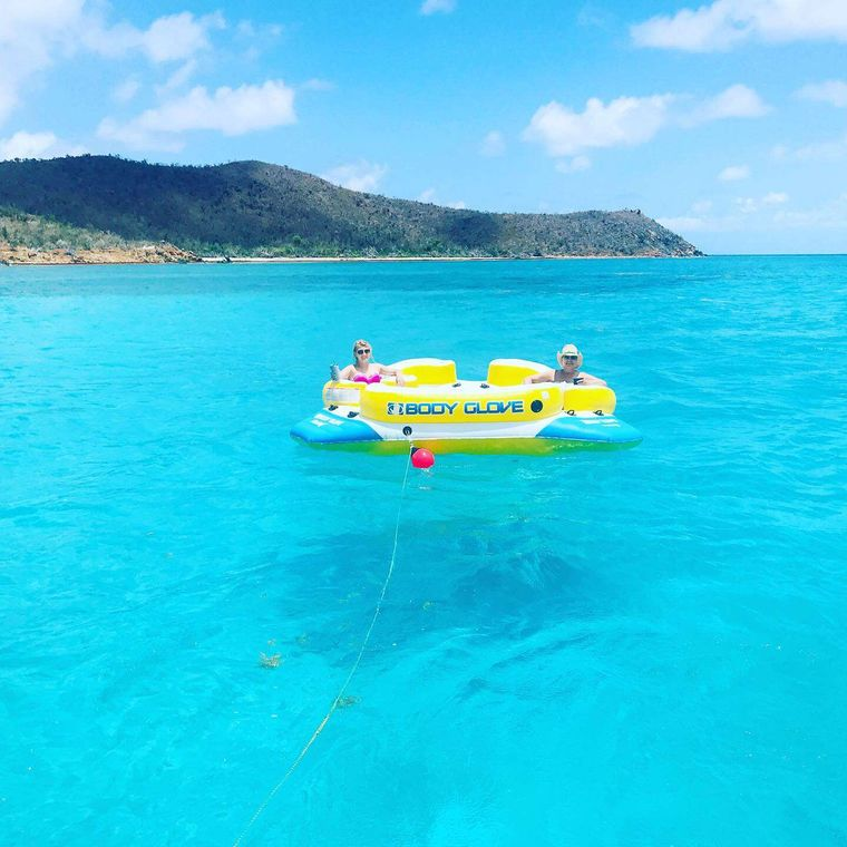 SEA BOSS Yacht Charter - Floating with a cocktail!