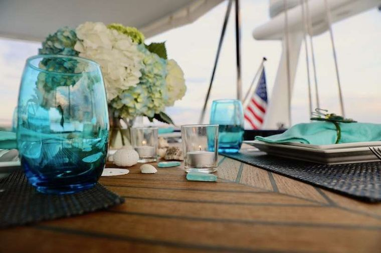 DELPHINE Yacht Charter - Beautiful Table Scapes