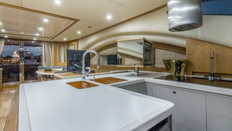LEGEND & SOUL Yacht Charter - Dining Area / Galley