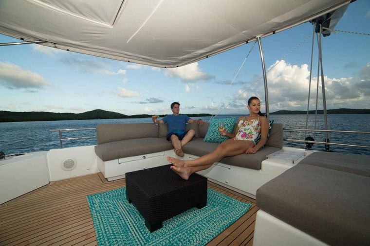 AZULIA II Yacht Charter - The view from the large flybridge is amazing!