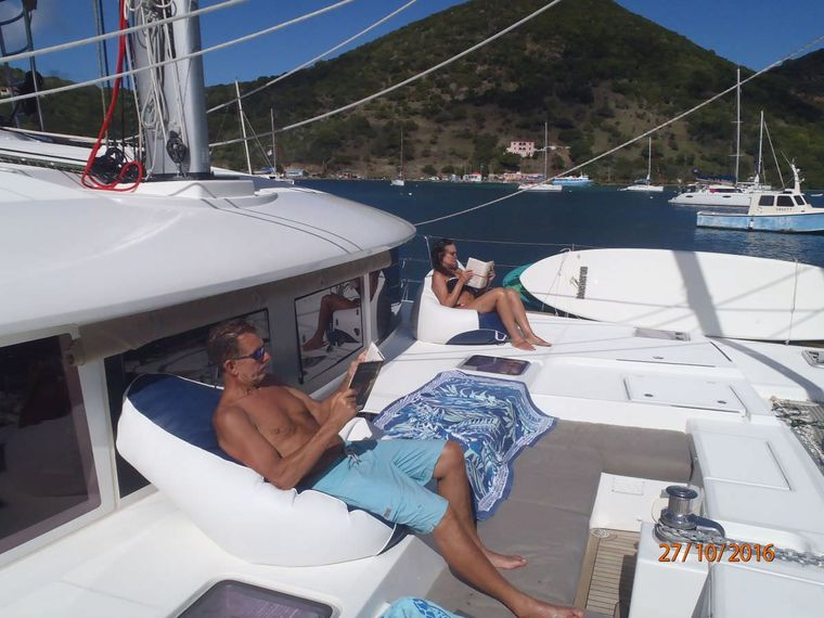AZULIA II Yacht Charter - Or just relax and read a bit