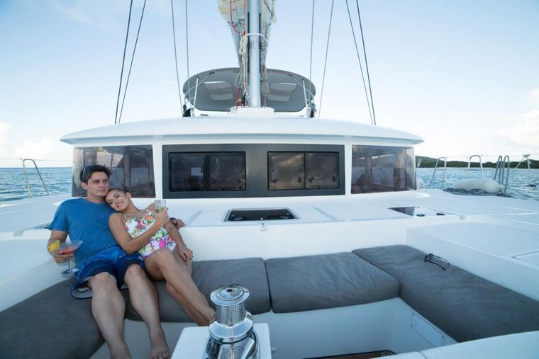 AZULIA II Yacht Charter - Foredeck lounging area now has rollout sunshade