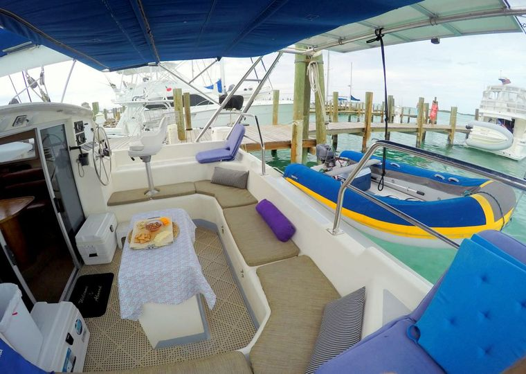RUBICON Yacht Charter - Cockpit Dining Area