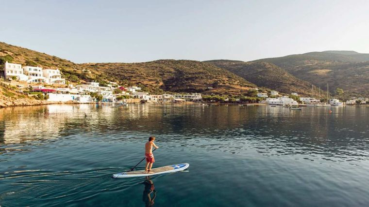 KEPI Yacht Charter - Paddle Boarding on calm waters