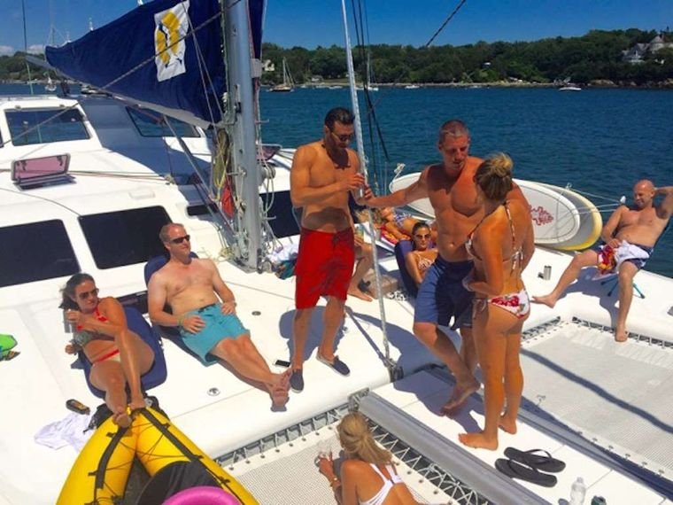 PARADIGM SHIFT Yacht Charter - Hangin out on Foredeck