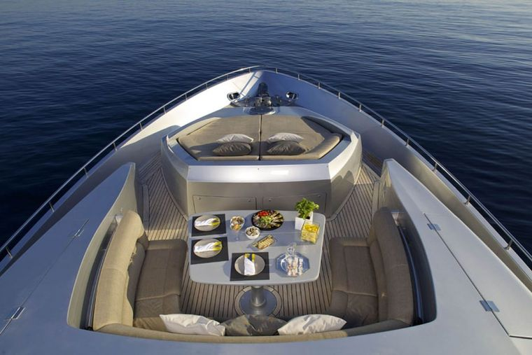 SOLARIS Yacht Charter - Bow aerial view