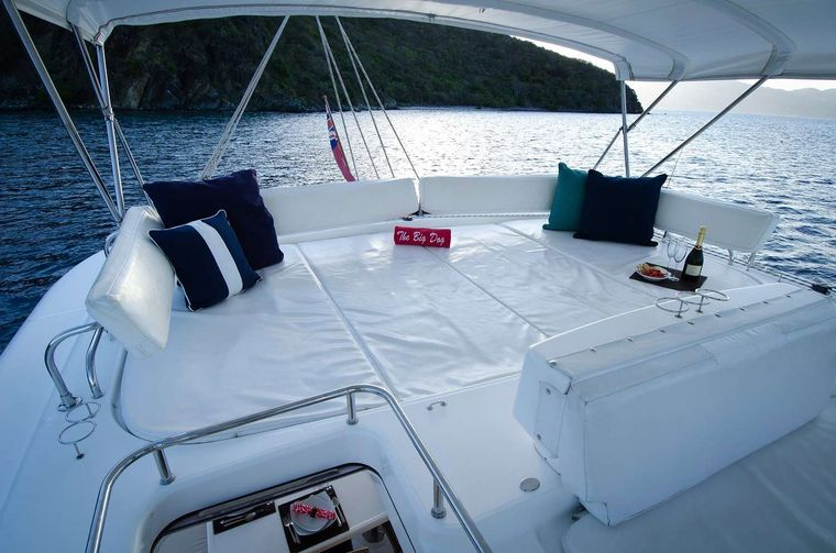 THE BIG DOG Yacht Charter - Top deck lounge, 360 degree view