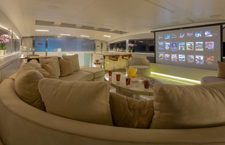 BARENTS SEA Yacht Charter - Upper Saloon Projector