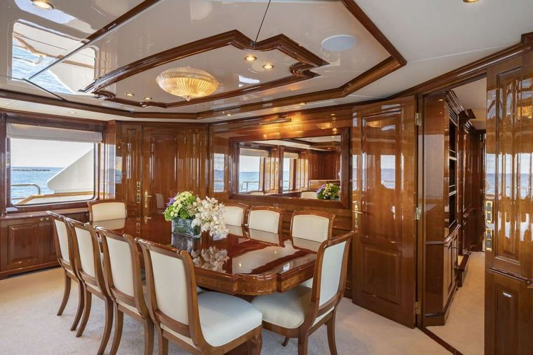 AURA Yacht Charter - Formal Dining