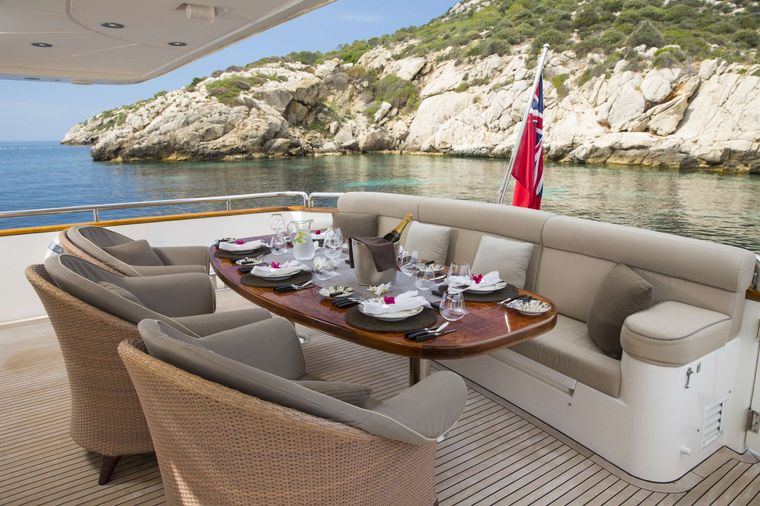 VOGUE Yacht Charter - Dining