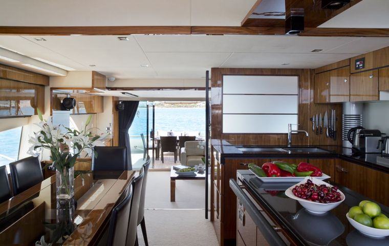 D5 Yacht Charter - Dining