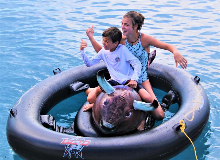 SERENITY NOW Yacht Charter - BULL RIDING