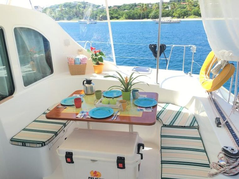 MANGO Yacht Charter - Bright and comfortable outdoor seating area.