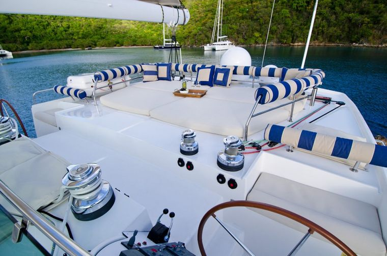 XENIA62 Yacht Charter - Top deck lounge area