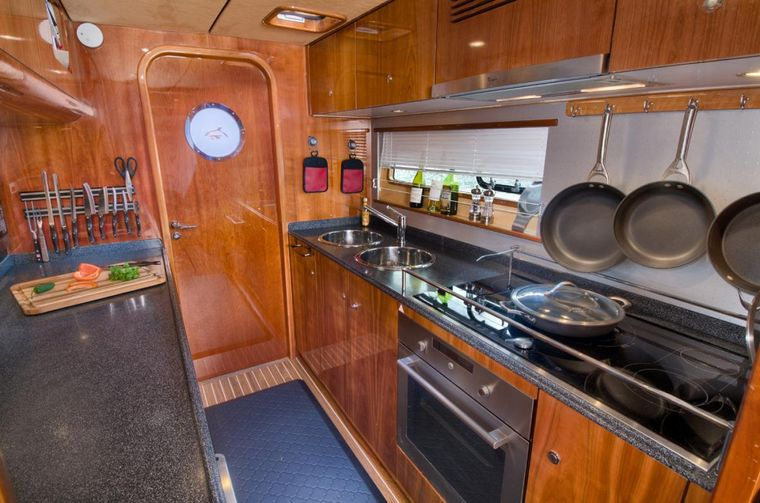 XENIA62 Yacht Charter - The galley where magic things happen