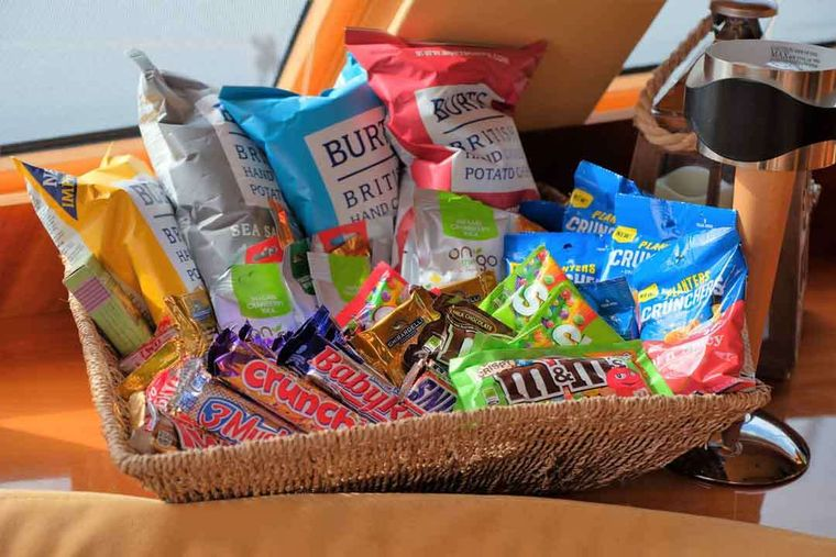 XENIA62 Yacht Charter - Sample snacks for guests