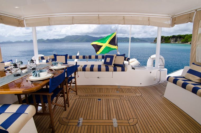 XENIA62 Yacht Charter - Spacious and comfortable aft deck