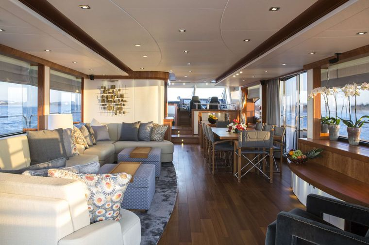PLAY THE GAME Yacht Charter - Main Saloon