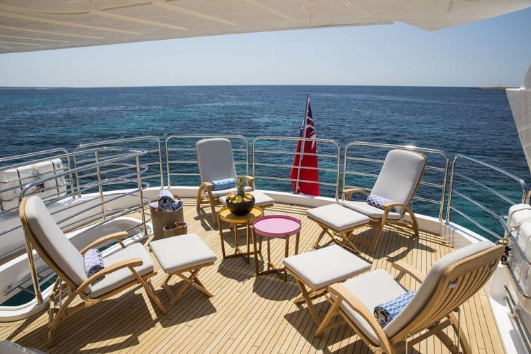 PLAY THE GAME Yacht Charter - Flybridge Seating