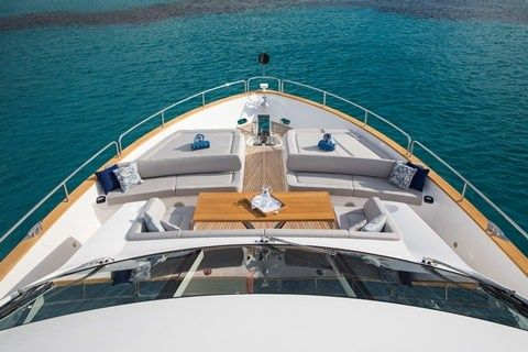 PLAY THE GAME Yacht Charter - Bow Seating