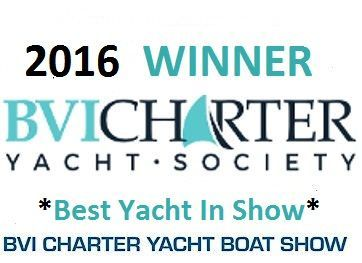 LIR Yacht Charter - 2016 Winner of Best in Show Over all at the 35th BVI Annual Charter Yacht Show