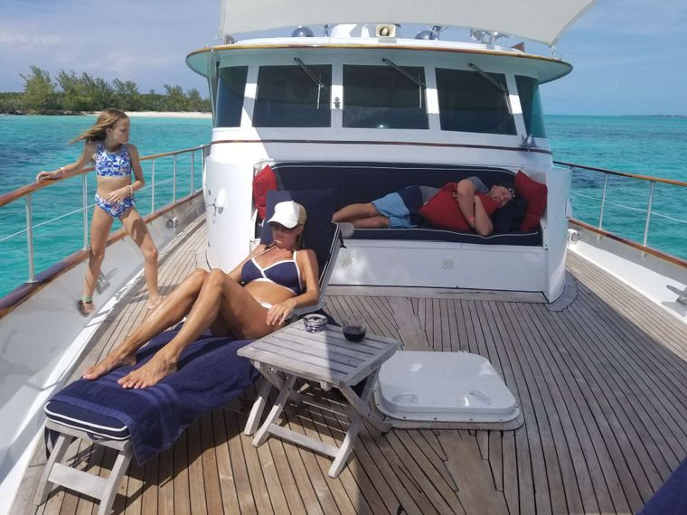 BONAPARTE Yacht Charter - Anchored off Beach