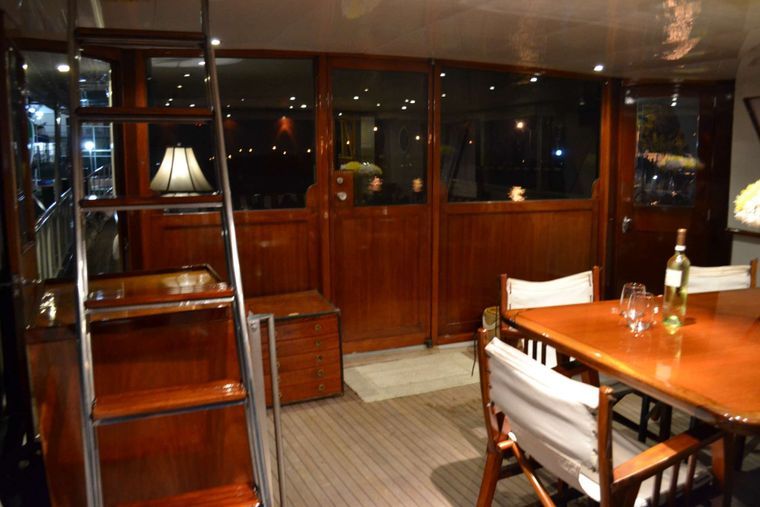 BONAPARTE Yacht Charter - aft deck at night