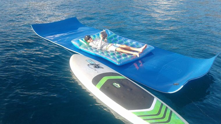 ELIXIR Yacht Charter - Why use 1 floaty when you can use 2!?