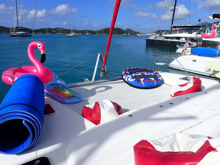 ELIXIR Yacht Charter - Sunbathe on the trampolines or kick back in a bean back chair