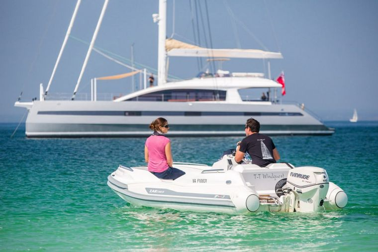 WINDQUEST Yacht Charter - ZAR 4.5m 15' tender with 60hp outboard
