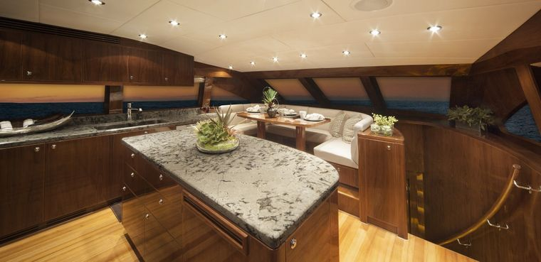 CARBON COPY Yacht Charter - country Kitchen Casual Dining